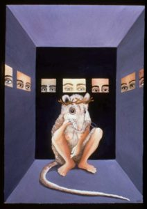 The Laboratory, or The Passion of OncoMouse, olio su masonite, Lynn Randolph (in Modest Witness, p. 46).